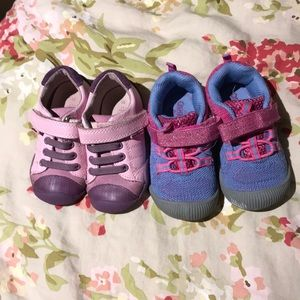 2 pairs of girls shoes size 6